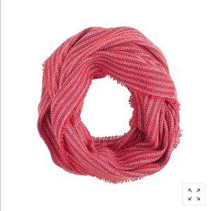 JCrew striped gauze infinity scarf